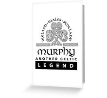 Limited Edition 'Murphy: Another Celtic Legend' Ireland/Scotland/Wales Accessories Greeting Card