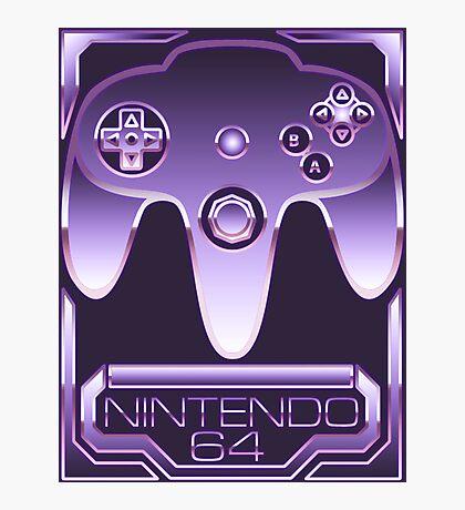 Chrome Nintendo 64 Photographic Print