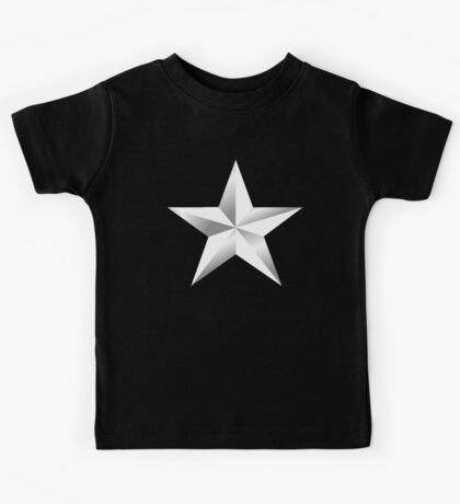ARMY, SILVER, STAR, USA, rank, insignia, United States Army, Air Force, and Marine Corps. Kids Tee