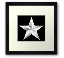 ARMY, SILVER, STAR, USA, rank, insignia, United States Army, Air Force, and Marine Corps. Framed Print