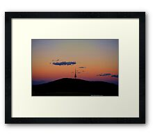 The Tower at Sunset Framed Print