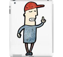 cartoon man in cap with idea iPad Case/Skin