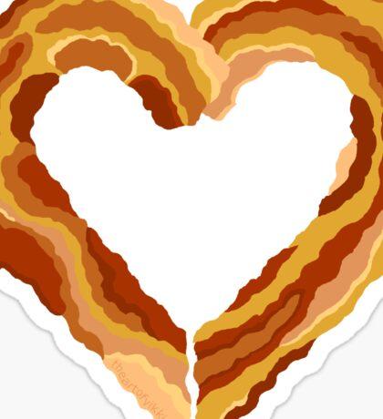 Bacon Heart I Love You Like Bacon Sticker