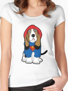 SUPERMAN DOG  Women's Fitted Scoop T-Shirt
