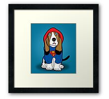 SUPERMAN DOG  Framed Print