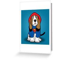 SUPERMAN DOG  Greeting Card