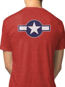 Air Force, USAAF,  insignia, WWII, July 1943, January 1947 Tri-blend T-Shirt