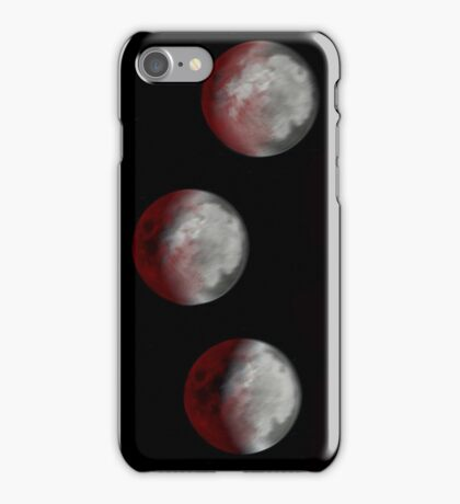Phases of the moon iPhone Case/Skin