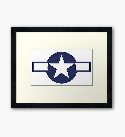 United States, Air Force, USAAF,  insignia, WWII, July 1943, January 1947 Framed Print