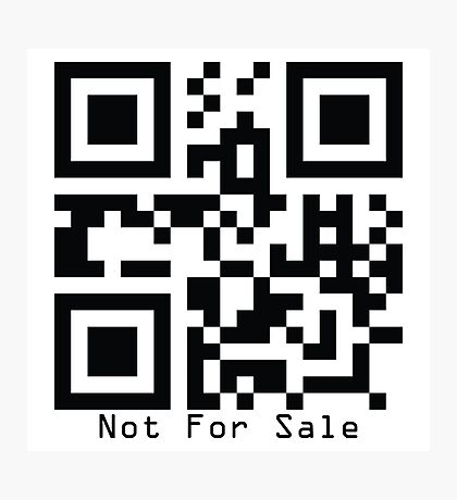 Not For Sale Photographic Print
