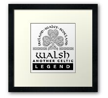 Limited Edition 'Walsh: Another Celtic Legend' Ireland/Scotland/Wales Accessories Framed Print