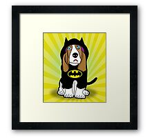 batman dog  Framed Print