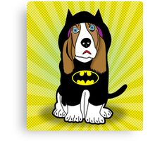 batman dog  Canvas Print