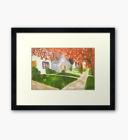 In A Small Town Framed Print