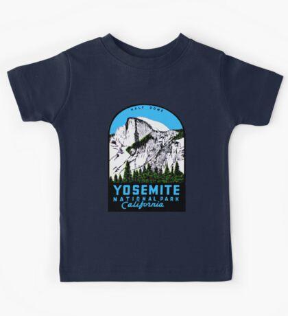 Half Dome Yosemite National Park California Vintage Travel Decal Kids Tee