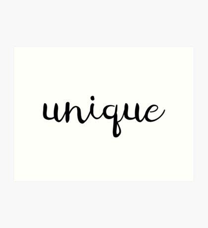 Unique Typography Art Print