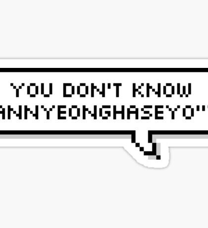 JIN :: YOU DONT KNOW ANNYEONGHASEYO ? Sticker