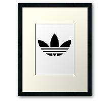Adidas Trefoil Original Black Framed Print