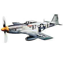 WWII, Combat Aircraft, USAAF, P-51 Mustang of 361st Fighter Group, 1944 Photographic Print