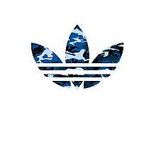 Adidas Trefoil Original Blue Camo Photographic Print