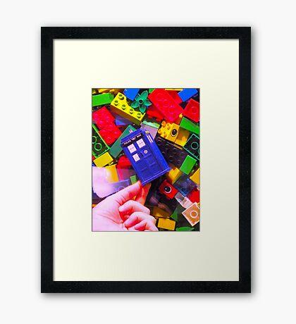 Lego My TARDIS Framed Print