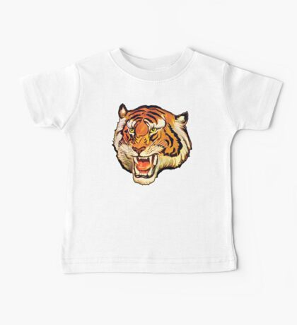 TIGER, Head, Big Cat, Growl, Snarl, Attack, Vintage Poster,  Baby Tee