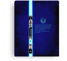 espada obi wan Canvas Print
