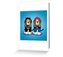 super heroes Greeting Card
