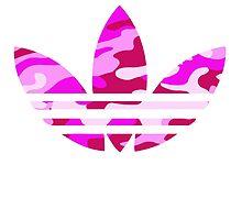 Adidas Trefoil Original Pink Camo by PommyKaine