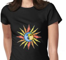 moon and sun Womens Fitted T-Shirt