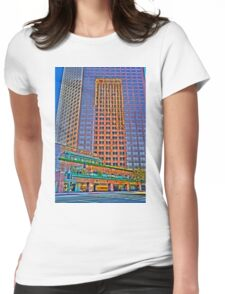 Financial district, reflections Womens Fitted T-Shirt