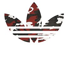Adidas Trefoil Original Red Camo by PommyKaine