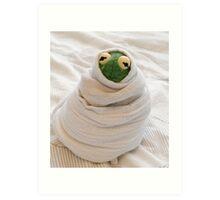 Snug Kermit Art Print