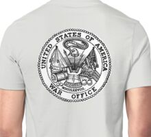 Seal, United States Department of War, Seal of the United States Department of the Army.  Unisex T-Shirt