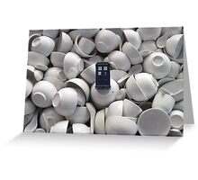 Bowl of TARDIS Greeting Card