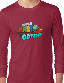 Super Mario Odyssey Logo Long Sleeve T-Shirt