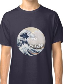 HIPSTER HOKUSAI :: GO WITH THE FLOW Classic T-Shirt
