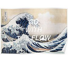 HIPSTER HOKUSAI :: GO WITH THE FLOW Poster