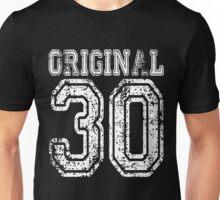 Original 30 2030 1930 T-shirt Birthday Gift Age Year Old Boy Girl Cute Funny Man Woman Jersey Style Unisex T-Shirt