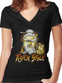 Tiger Style Women's Fitted V-Neck T-Shirt