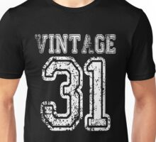 Vintage 31 2031 1931 T-shirt Birthday Gift Age Year Old Boy Girl Cute Funny Man Woman Jersey Style Unisex T-Shirt