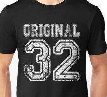 Original 32 2032 1932 T-shirt Birthday Gift Age Year Old Boy Girl Cute Funny Man Woman Jersey Style Unisex T-Shirt