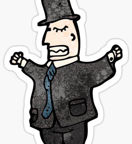 rich man cartoon Sticker