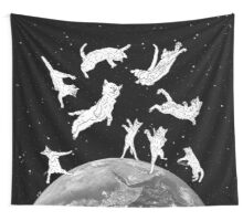 Cosmic Cat Space  Wall Tapestry