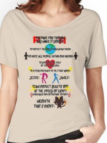 Team Rocket Motto Women's Relaxed Fit T-Shirt