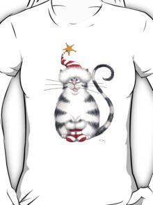 Kazart Fat Cat Xmas Star T-Shirt