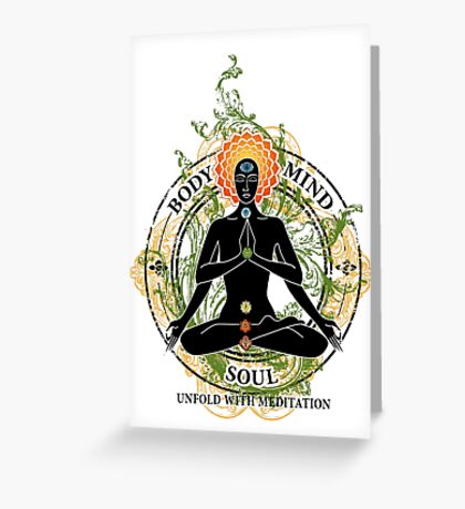 Yoga : Mind Body and Soul KUNDALINI Greeting Card