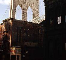 Brooklyn Bridge 1970 by John Schneider