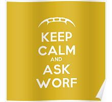 Keep Calm and Ask Worf! Poster