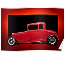 1928 Ford Coupe 'Perfection in Red' III Poster